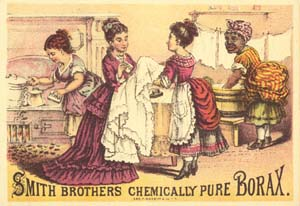 Late nineteenth-century trade card for Borax Soap. American Antiquarian Society